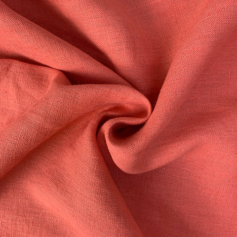 Washed Verone Linen – Coral  £26.90 per metre