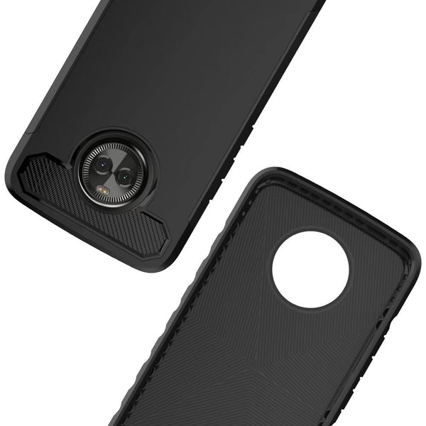 Moto X4 Case, LK [Carbon Fiber] Shock Absorption Hybrid Armor Defender Protective Case Cover for Motorola Moto X4