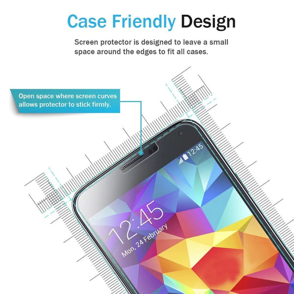 Samsung Galaxy S5 Screen Protector, LK Tempered Glass with Lifetime Replacement Warranty