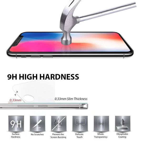 iPhone X Full Cover Screen Protector (2 PACK) Full Cover Tempered Glass with Lifetime Replacement Warranty (Black)