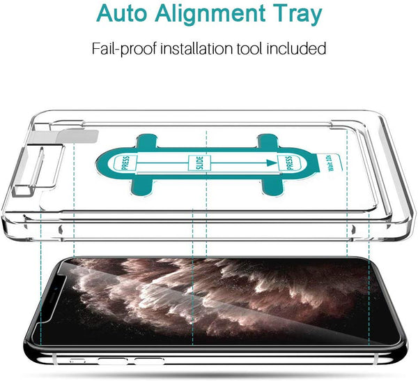 K&L [3 Pack] Screen Protector for iPhone 11 Pro Max / Xs Max Tempered Glass [Installation Kit Included]