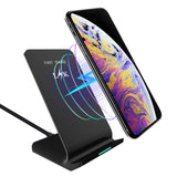 Wireless Charger, LK Qi Fast Wireless Charging Pad Stand for iPhone XS Max/XS / XR/X, LG G7 ThinQ, Samsung Galaxy Note 9 / S9 / S9 Plus / S8 / S8 Plus, All Qi-Enabled Devices