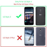 LG Stylo 3 Screen Protector (2-Pack) LK [Full Cover] Tempered Glass with Lifetime Replacement Warranty [Not Fit for LG Stylo 3 Plus]
