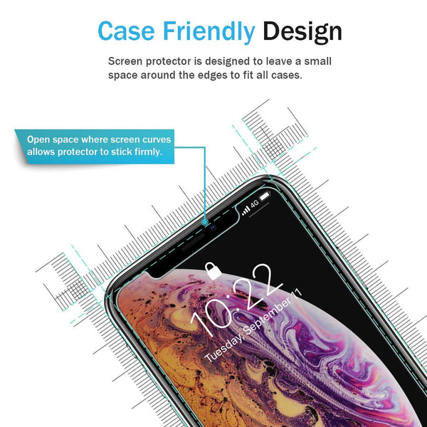 [3 PACK] LK for iPhone XS Max Screen Protector, [Tempered Glass][Case Friendly] DoubleDefence Technology [Alignment Frame Easy Installation] with Lifetime Replacement Warranty
