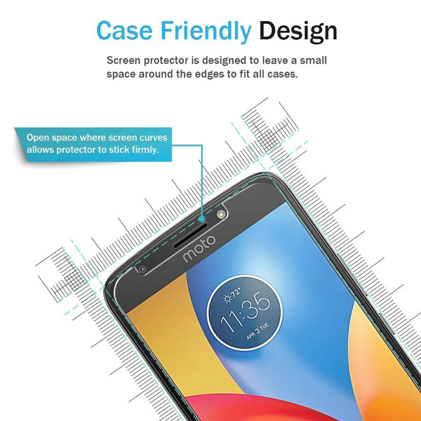 Motorola Moto E4 / Moto E (4th Generation) Screen Protector, LK [Tempered Glass] with Lifetime Replacement Warranty [NOT fit for Moto E4 Plus]