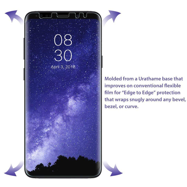 [3 Pack] LK for Samsung Galaxy S9 Screen Protector, Liquid Skin [New  Version] [Case-Friendly] [Bubble-Free] HD Clear Flexible Film with Lifetime