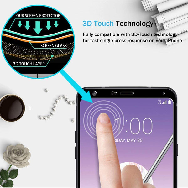 [2 Pack] LK for LG Stylo 4 Screen Protector, [Full Cover] Tempered Glass with Lifetime Replacement Warranty