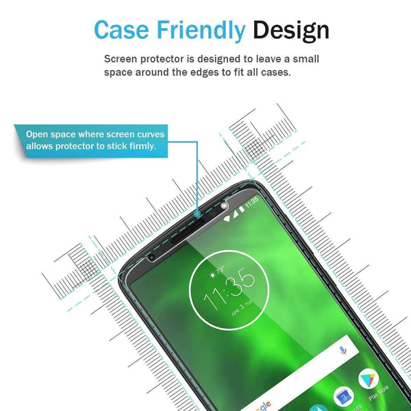 [3 Pack] LK for Motorola Moto G6 Screen Protector, [Japan Tempered Glass] 9H Hardness with Lifetime Replacement Warranty