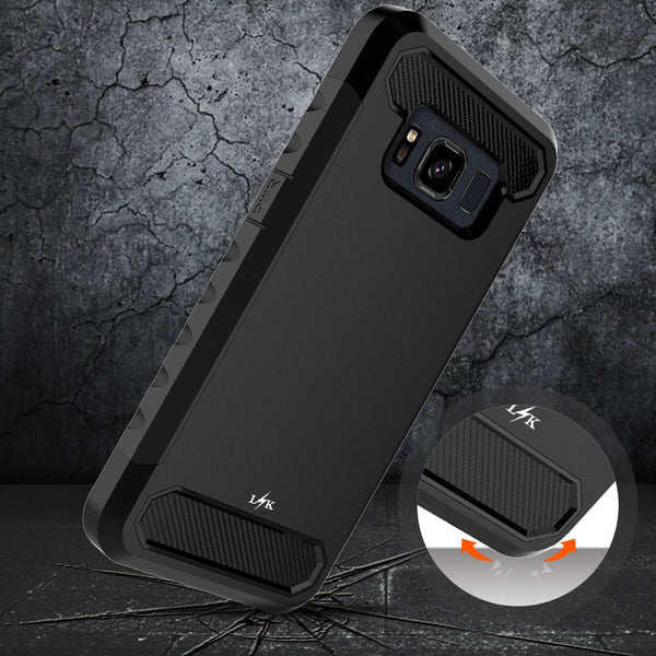 Galaxy S8 Active Case, LK [Carbon Fiber] Shock Absorption Hybrid Armor Defender Protective Case Cover for Samsung Galaxy S8 Active