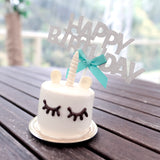 Big Silver 'Happy Birthday' Cake Topper