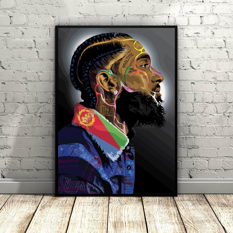 EM AfriNOVA Nipsey Hussle Prolific Canvas Painting
