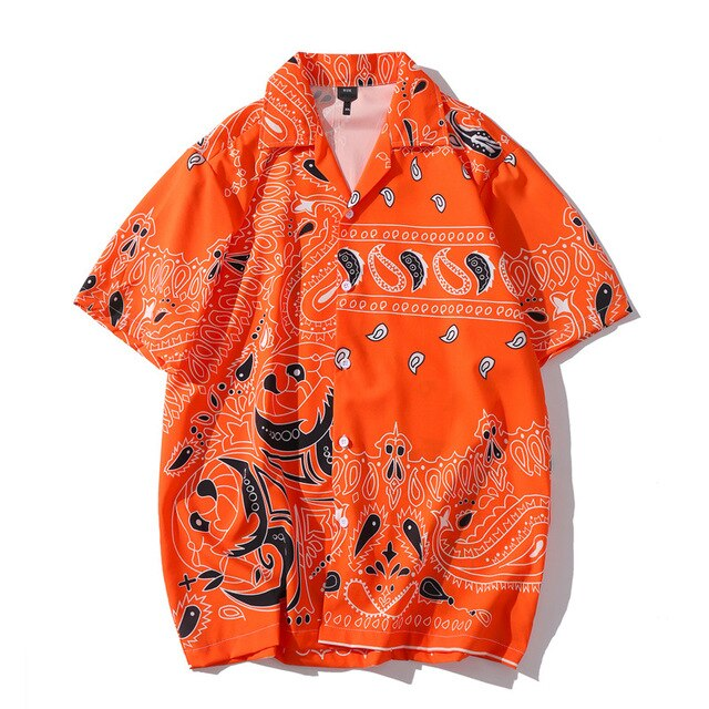AfriNOVA & RUSS44 Orange Bandana Shirt