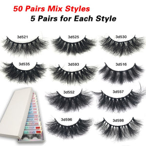 EM AfriNOVA 10Masks Lashes In Bulk