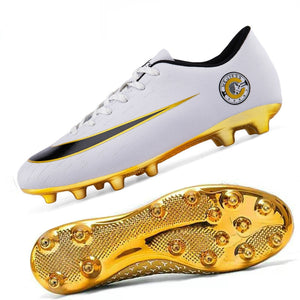 EM AfrINOVA Golden Plated Football Spikes Shoes