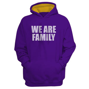 We Are Family Purple Hoodie