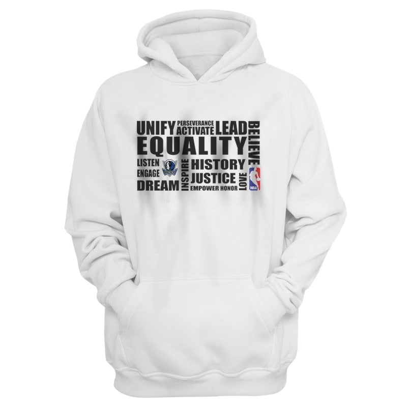 EM AfriNOVA EQUALITY, Dallas Mavericks White Hoodie