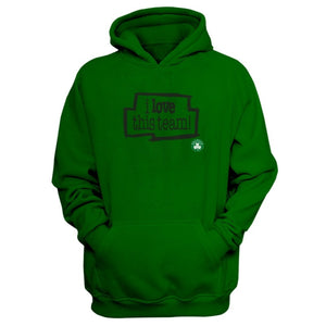EM AfriNOVA Celtics, I Love This Team Green Hoodie