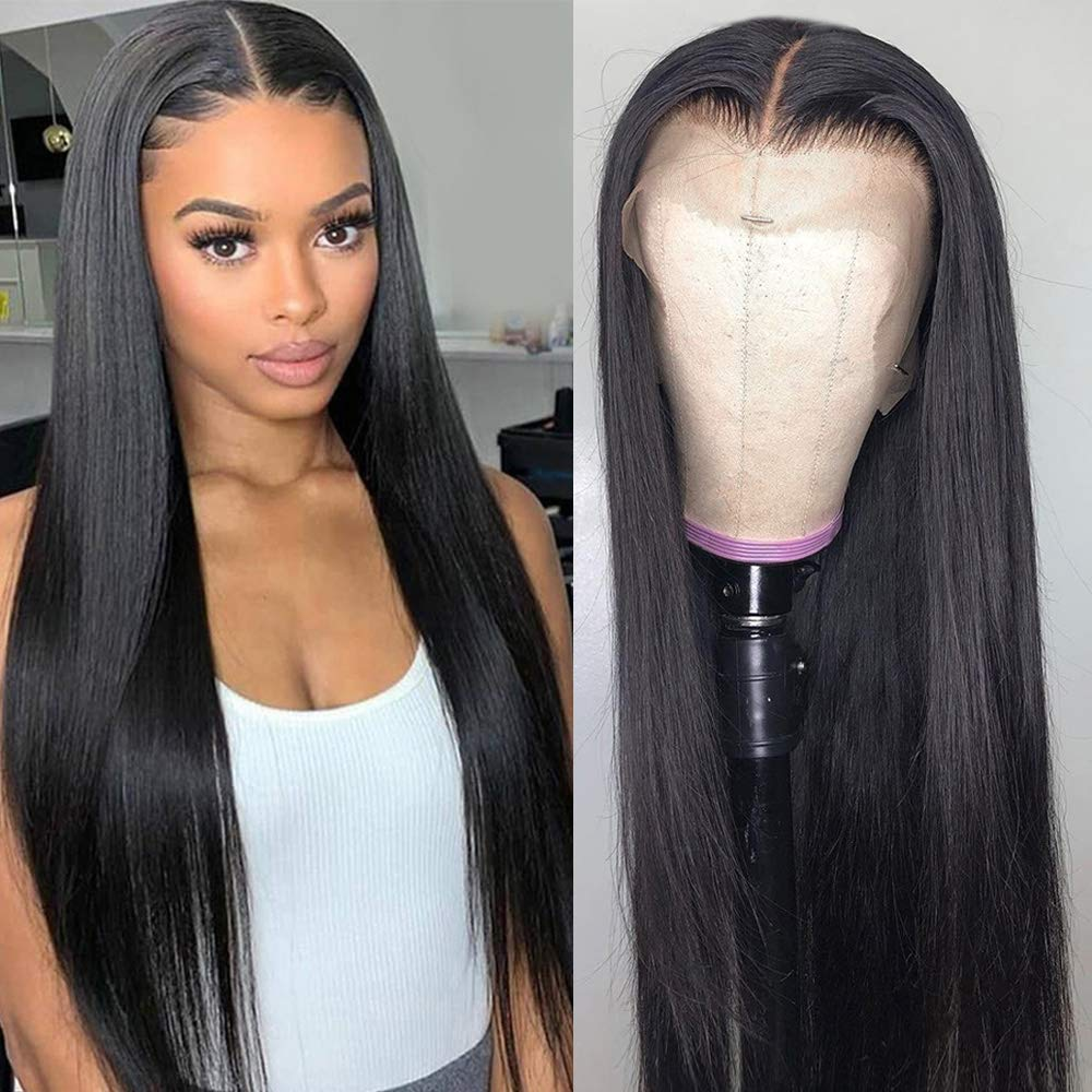 EM AfriNOVA 40 inch Straight 13x4 Lace Front | Human Hair Frontal Wigs
