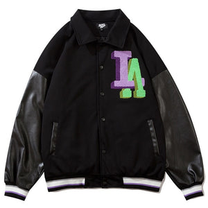 EM AfriNOVA Los Angeles Embroidery Flocking Windbreaker Coat
