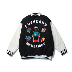AfriNOVA & Symba SoulFood Embroidery Windbreaker Coat