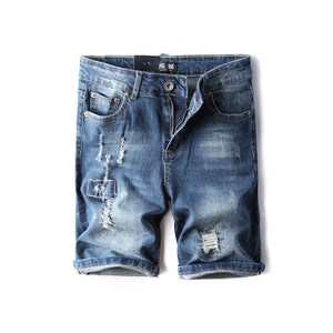 Factors Patched Jeans Shorts
