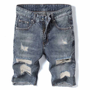 Washed Ripped Jeans Shorts