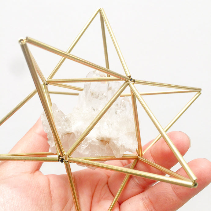 Star Tetrahedron with Clear Quartz