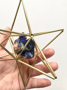Star Tetrahedron with Azurite