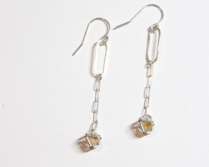Silver Pin Bar Earrings
