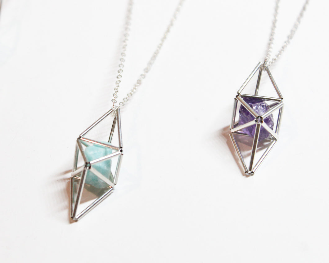 Sterling Silver Trigonal Tristetrahedron Necklace