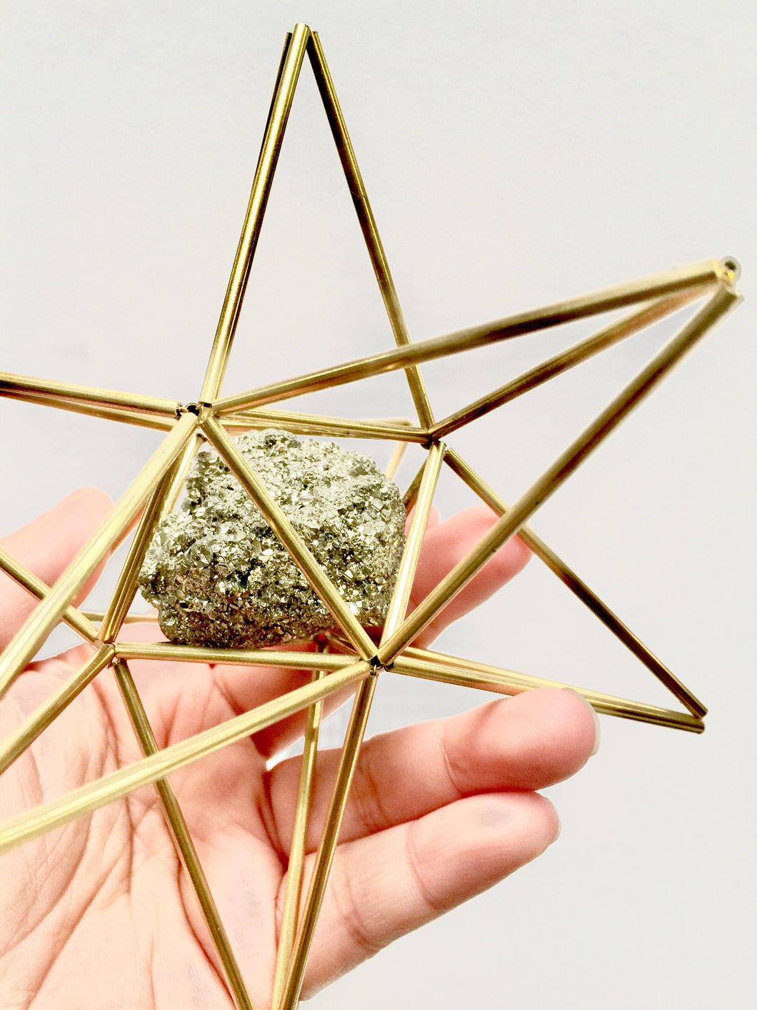 Star Tetrahedron with Pyrite