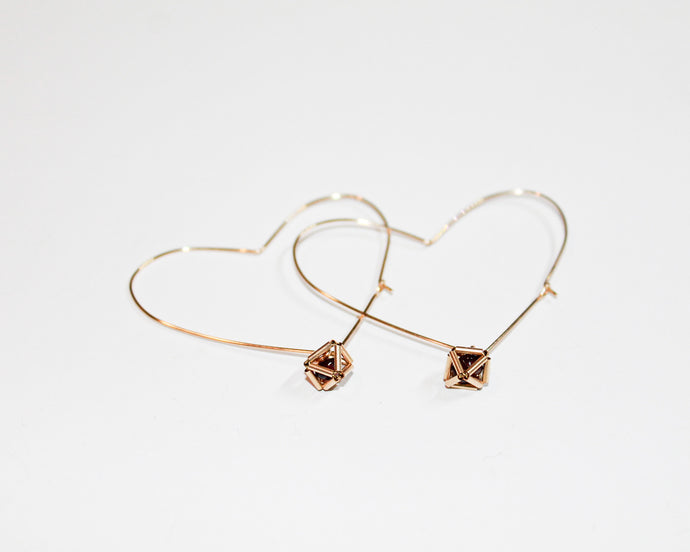Heart Geo Earrings