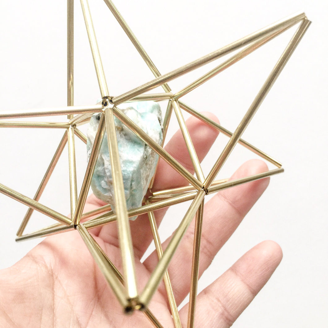 Star Tetrahedron with Amazonite