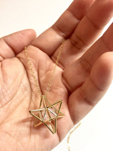 Star Tetrahedron Gold filled