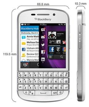 Blackberry Q10 screen