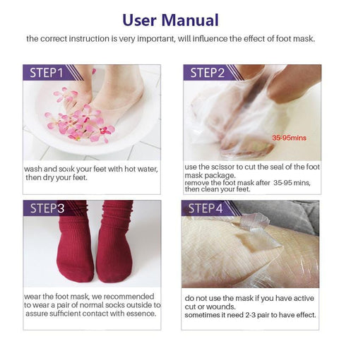 Exfoliating Foot Peel (6 Peels) - Fits Up To Size 15 - Buy 1 Get 2 Free - Baby Feet - Baby Foot™