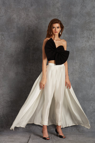 Silk Cape Trousers
