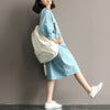 Summer Cotton Batwing Robe Dress