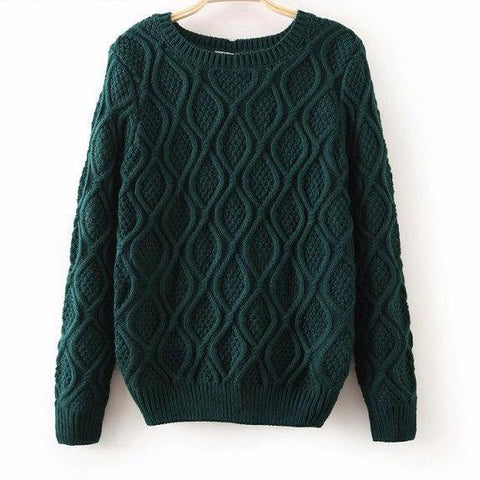 Knitted Long Sleeve Winter Cotton Sweater