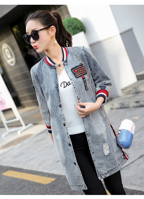 Casual Vintage Jeans Outerwear Jacket