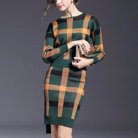 Winter 2 Pieces Sweater Dress
