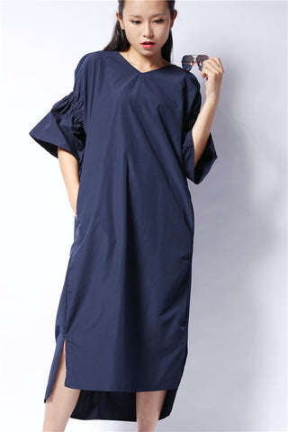 Original Back Fold Blue Dress