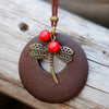 Wooden Dragonfly Necklace