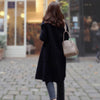 Black Vintage Women Autumn Winter Coats Warm Wool