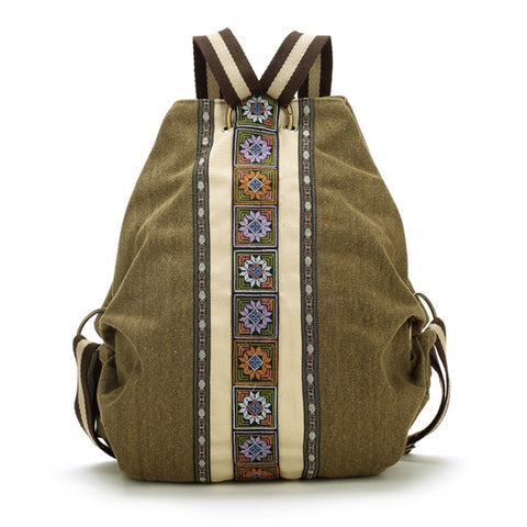 Ethnic Canvas Backpacks for Women