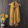 Ethnic Style Shawl Cotton and Linen Holiday Scarf
