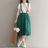 Elastic Waist Loose Large Size Cotton Skirt