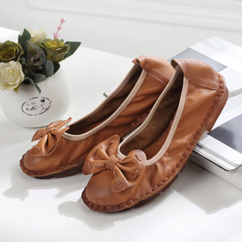 Genuine Leather Oxfords Casual Retro Flat Shoe