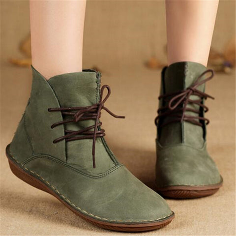 Women Sinter Shoes Handmade Genuine Leather Boots