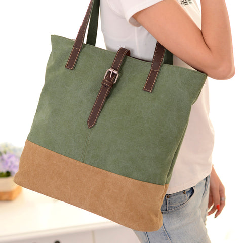 Fashion Simple Women Retro Canvas Shoulder Bag